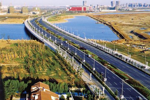 苏州工业园区金鸡湖大桥工程